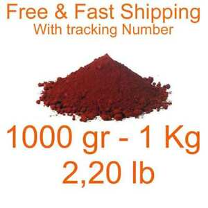 Iron Oxide Red Pigment Dye 1000 Gr 1 Kg 2 20 Lb Free Fast Shipping Fe2o3 Dyes