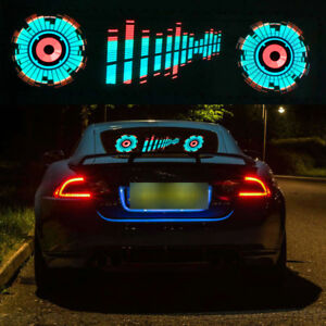 Car Sticker Music Rhythm Led Decorative Lamp Kit Pvc Flash Light Sound Activated
