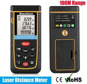 100m 328ft Handheld Digital Lcd Laser Distance Meter Finder Range Measure Tool