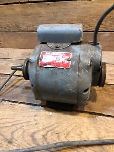 Delco Electric Motor Sa7876 1 6hp 1725 Rpm Single Phase 115 Volts 1 2 Shaft