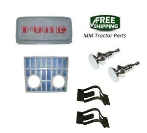 Front Grille Set Knobs Ford 2000 3000 4000 5000 5100 5200 7000 7200 Tractor