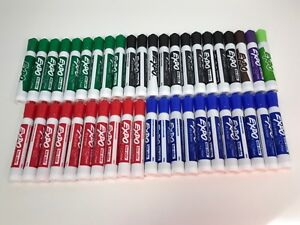 Expo Low Odor Dry Erase Markers Chisel Tip Assorted Colors 43 Count