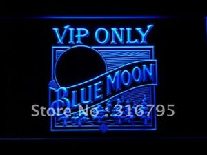 Vip Only Blue Moon Beer Led Neon Sign With On off Switch 20 Colors 5 Sizes