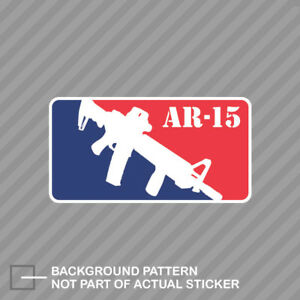 M 16 Ar 15 Sticker Decal Vinyl M16 Ar15 Major League