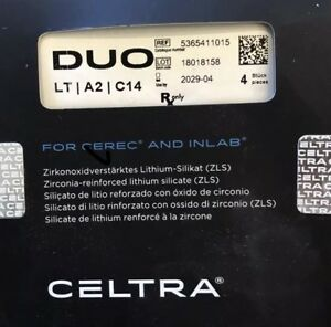Dentsply Sirona Celtra Duo For Cerec Inlab Lt A2 C14 4 Blocks