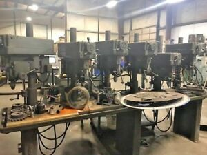 Clausing 6 Spindle Drill Press On Production Table Busby International