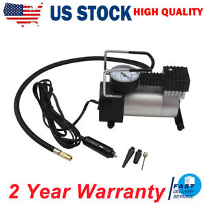 12v Electric Car Tire Inflator With Pressure Gauge 150psi For Automobiles Bike