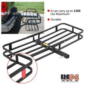 1500lbs Steel Cargo Carrier Luggage Basket 2 Receiver Hitch Hauler For Suv