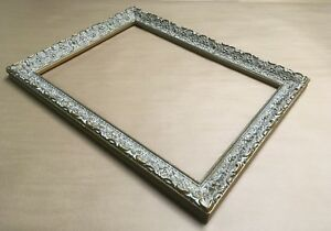 Vintage Ornate Wood Picture Frame Holds 15 X 20 5