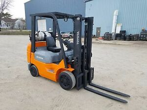 2006 2007 Toyota Model 7fgcu20 4 000 4000 Cushion Tired Forklift 118 Lift