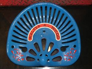 Walter A Wood No 2 Vintage Cast Iron Tractor Implement Seat Farm Collectables