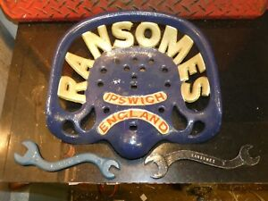 Ransomes Vintage Cast Iron Tractor Implement Seat Farm Collectables