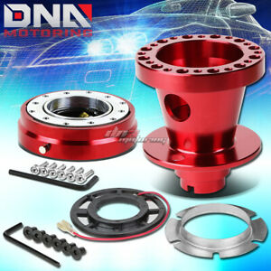 Red 6 hole Steering Wheel Hub Adaptor quick Release Fit Civic Eg eh ej dc db