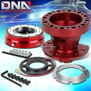 Red 6 hole Steering Wheel Hub Adaptor quick Release Fit 90 91 Civic integra