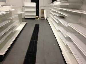 Used Lozier Gondola Retail Shelving