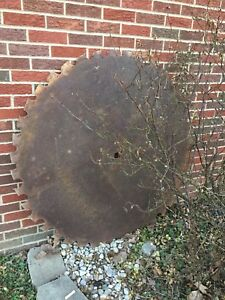 Large Sawmill Buzz Saw Blade 51 1 2 50 Teeth Diameter Solid Sawblade