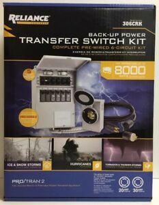 new Reliance Controls 6 Circuit Back up Power Transfer Switch Kit 306crk