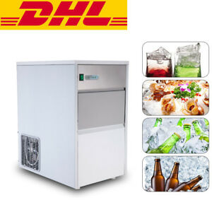 Built in Stainless Commercial Ice Cube Maker Portable Ice Machine Restaurant Ce