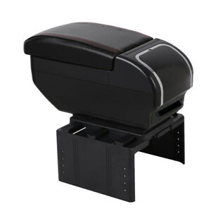 Pu Leather Car Central Cover Armrest Pad Box Cup Holder Universal Elbow Rest