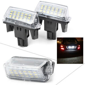 Led License Plate Light Lamp For Toyota Yaris 2012 Camry 2013 2pcs Auto