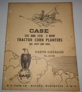 Case 232 232e 2 row Tractor Drawn Corn Planter Parts Catalog Manual Original