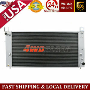 3row Radiator For 99 13 Chevy Silverado 2500 Suburban 1500 Tahoe Escalade 6 0 V8