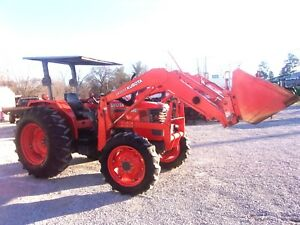 Nice Kubota M6800 4x4 With Kubota Loader Low Hrs free 1000 Mile Shipping