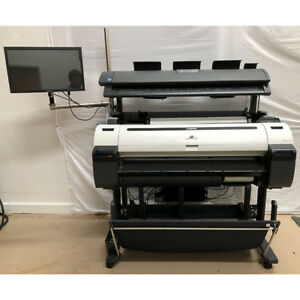 Canon Ipf770 36 Plotter W Colortrac Scanner Computer