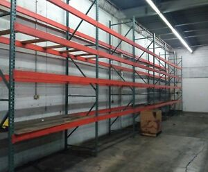 Pallet Racking In 19 Sections 128 Crossbeams 32 Uprights will Separate