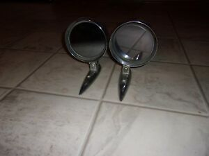 Vintage 1955 59 Yankee Chevrolet Ford Mopar Swivel Side Mirrors Rat Rod