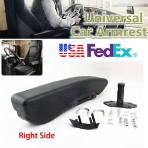 Pu Leather Seat Armrest Cover Universal For Vehicle Seat Elbow Rest Us Stock