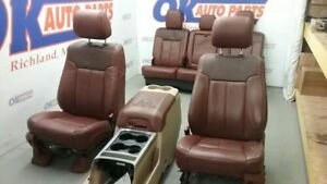 2011 12 13 14 15 16 Ford F250 F350 Super Duty King Ranch Interior Seat Set Tan