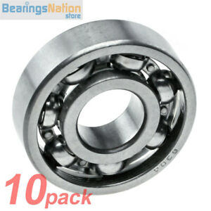 Set Of 10 Radial Ball Bearing 6304 Open Medium Series Light Oil