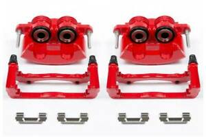 Power Stop S4692 Performance Front Brake Calipers Red Powder Coat
