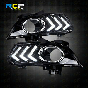 For 2013 2016 Ford Fusion Led Daytime Running Light Fog Lamps With Turn Signal
