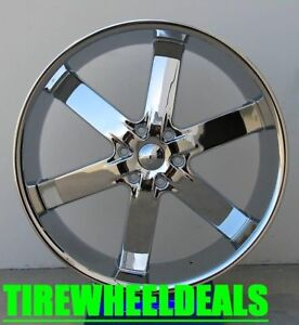 24 U2 U55 Chrome Wheels Rims Tires Fit Suburban Tahoe Escalade Sierra Titan