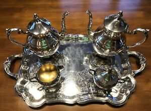 F B Rogers Silver Co 1883 Silverplate 5 Pc Coffee Tea Service Set Euc