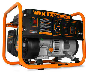 Wen 1550 w Portable Gas Powered Carb Compliant Generator Home Backup Rv Camping