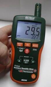 Extech M0290 Pinless Moisture Humidity Meter Ir Thermometer Unit Only Look