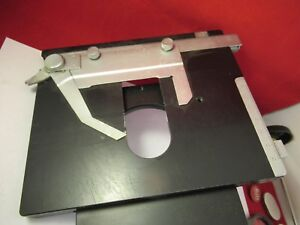 Leitz Dialux Stage Table Micrometer Microscope Part Optics As Pictured