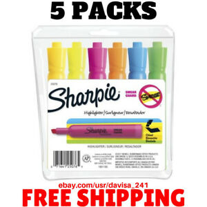 6 Pack Sharpie Accent Tank Style Highlighter chisel Tip assorted Colors 6 Count