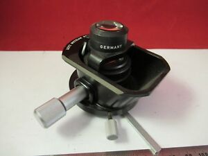 Leitz Germany Dialux Condenser Microscope Part Optics As Pictured