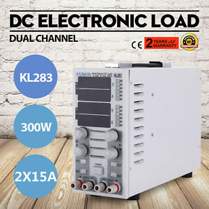 Dual Channel Adjustable Lcd Dc Electronic Load 300w 80v 30a In Usa Local Ship