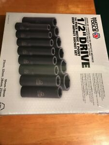 Matco Tools 1 2 Drive Deep Metric Impact 6 Point Socket Set Brand New L k