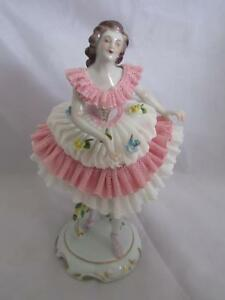 0 Oldest Volkstedt Porcelain Co Dresden Lace Figurine