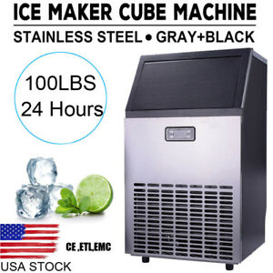 Stainless Steel Commercial Ice Maker Built in Undercounter Freestanding Machine
