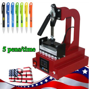 Digital Pen Heat Press Machine For Pen Heat Transfer Printing For 5pcs Pens time