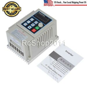 Single To 3 phase Motor Governor Variable Frequency Drive Inverter Cnc 220v