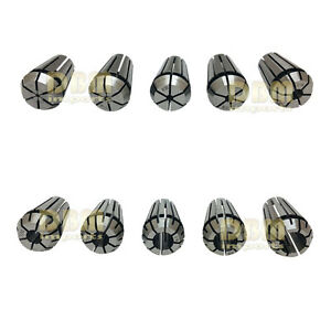 10 Pc Er16 Spring Collet Set 1 32 3 8 Precision Hardened 1mm 10mm