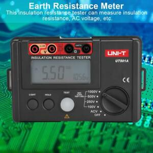 Uni t Ut501a 1000v Digital Insulation Tester Earth Ground Resistance Multimeter